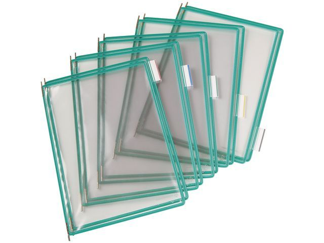 tarifold Zichtpaneel Tarifold A4 PVC groen/doos10
