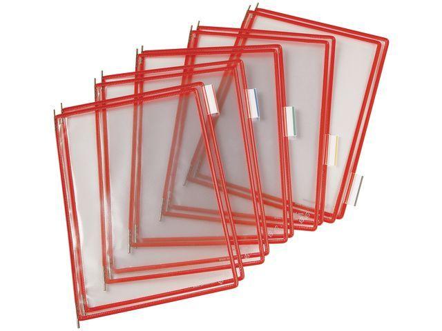 tarifold Zichtpaneel Tarifold A4 PVC rood/doos 10