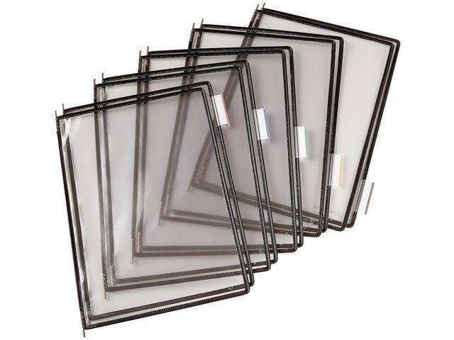 tarifold Zichtpaneel Tarifold A4 PVC zwart/doos10