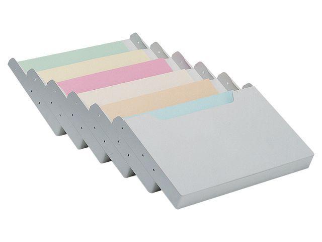 multiform Ladeverdeler Multiform 6v A4 dwars grijs