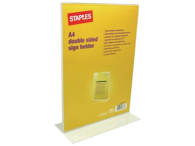 Staples Tafelstandaard SPLS A4 staand dubbelz.