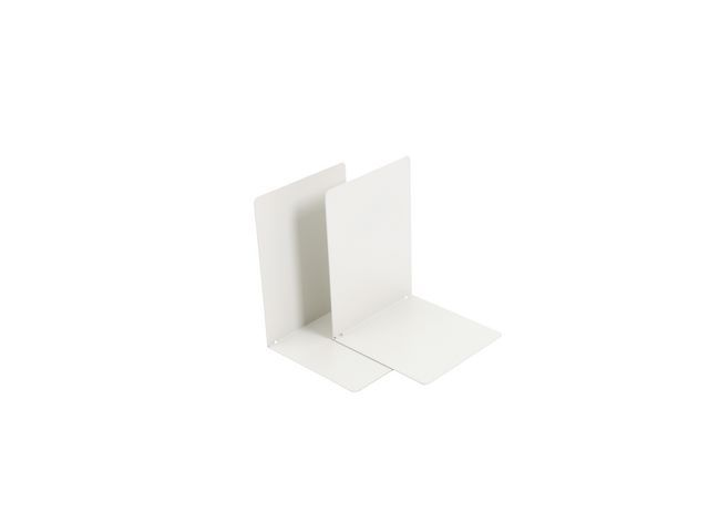 Boekensteun wit 9002 (set 2 stuks)