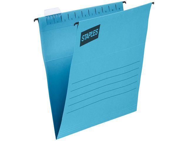 Staples Hangmap SPLS flex A4 V-bodem blauw/d25