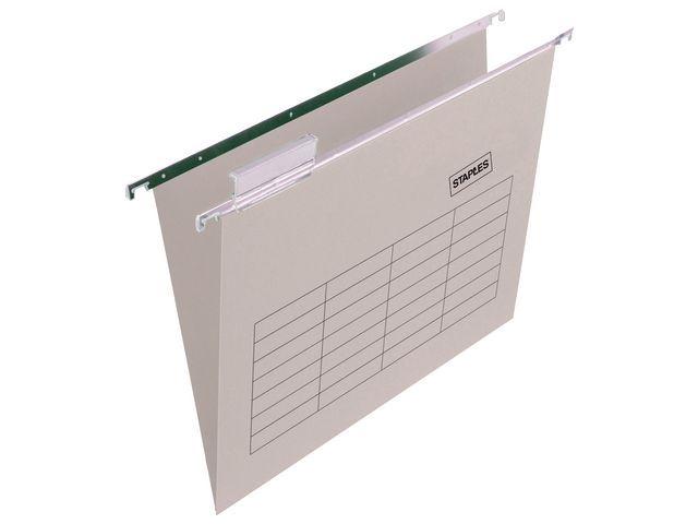 Staples Hangmap vert. SPLS A4 V-bodem grijs/ds25