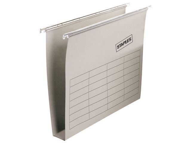 Staples Hangmap vert. SPLS folio 30mm grijs/ds25