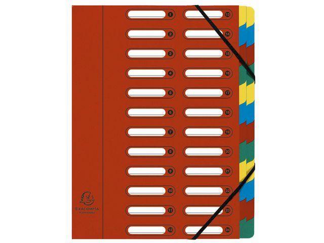 Exacompta Sorteermap elasto NF venster 24-vaks rd