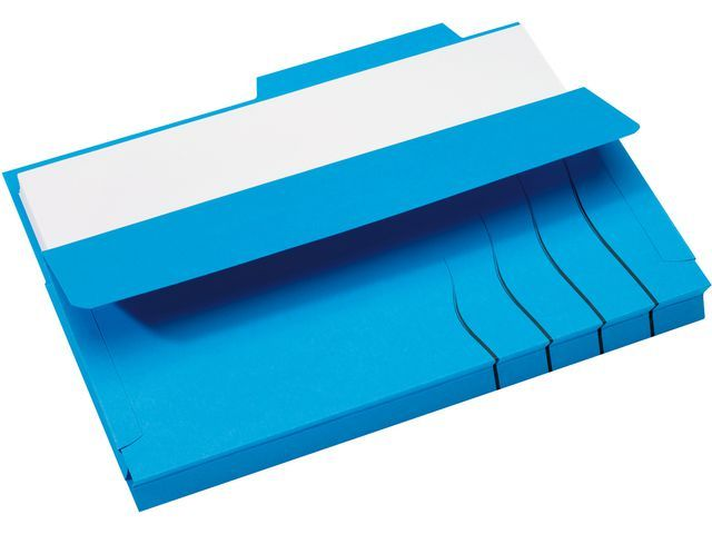 Jalema Soufletmap Secolor met tab A4 blauw/pk10