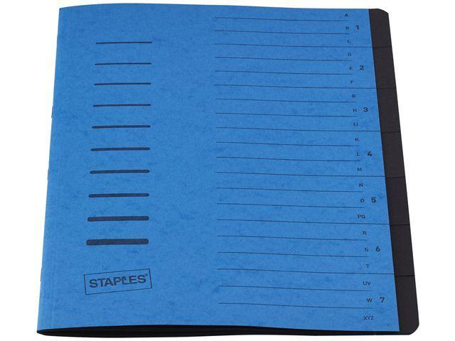 Staples Sorteermap elasto SPLS A4 7 vakken blauw