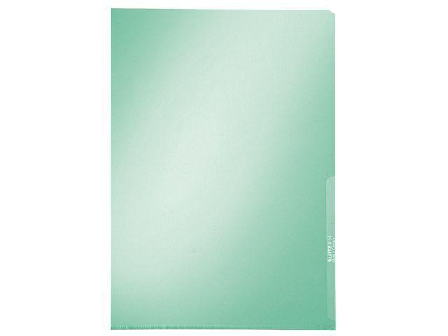 Leitz Insteekmap Leitz A4 L 0.15 groen/pak 100