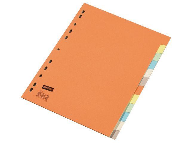 Staples Tabblad SPLS A4 11R 2x6-kleurkarton/se12