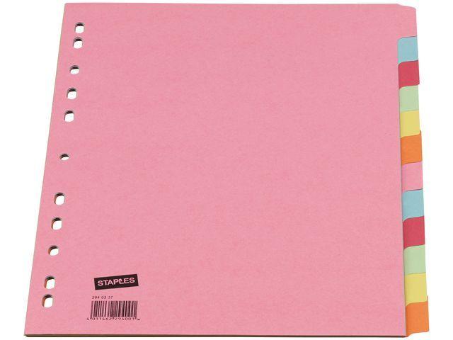 Staples Tabblad SPLS A4 11R 12T Kleur Karton