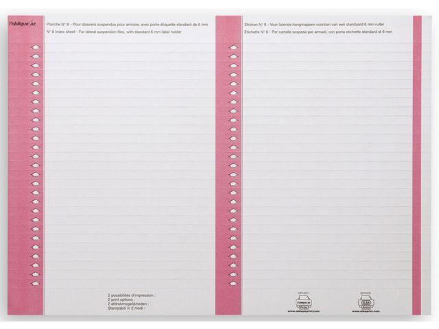 L'oblique Ruiterstrook ELBA nr.8 roze/pak 270