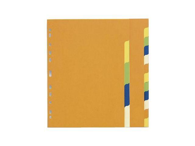Staples Tabblad SPLS A4 11R 2x5-kleurkarton/se10