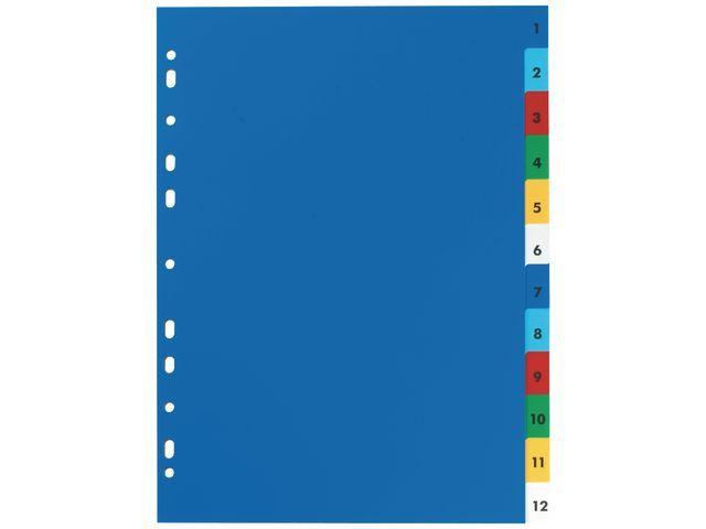 Elba Tabblad ELBA A4 11R PP 1-12 kleur/set 12