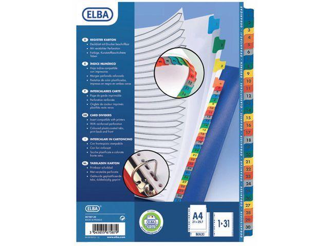 Elba Tabblad ELBA A4XL 11R karton 1-31/set 31