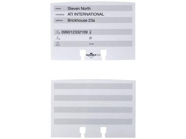 Durable Insteekkaart Durable Telindex 2419/pk100