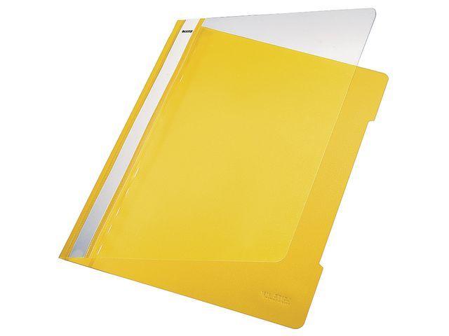 Leitz Hechtmap Leitz 4191 A4 PVC geel/doos 25