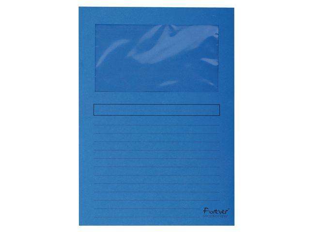 Exacompta Venstermap Forever A4 120g d blauw/pk100