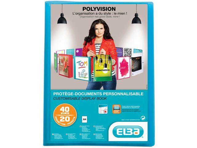 Elba Showalbum ELBA Polyvision A4 20tassen bl