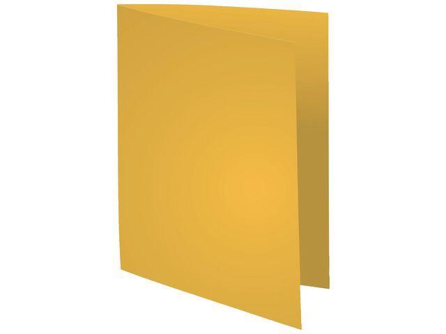 Exacompta Vouwmap A4 karton onbedrukt geel/pak 100
