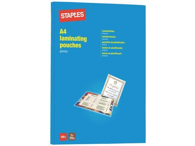 Staples Lamineerhoes SPLS 216x303 2x125mic/pk100