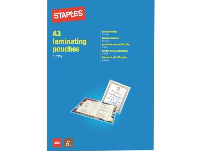 Staples Lamineerhoes SPLS 303x426 2x75micr/pk100