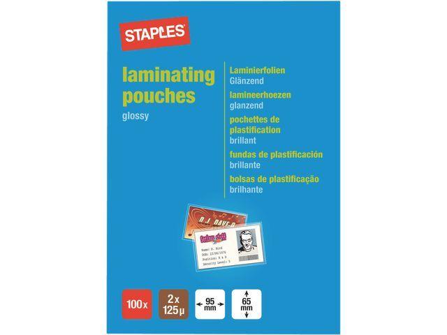 Staples Lamineerhoes SPLS 65x95 2x125micr/pk100