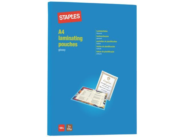 Staples Lamineerhoes SPLS 216x303 2x175mic/pk100