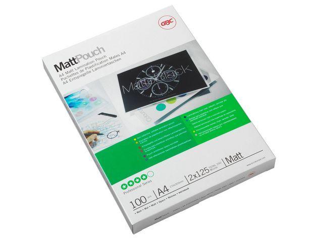 GBC Lamineerhoes GBC A4 125micr.mat/pak 100