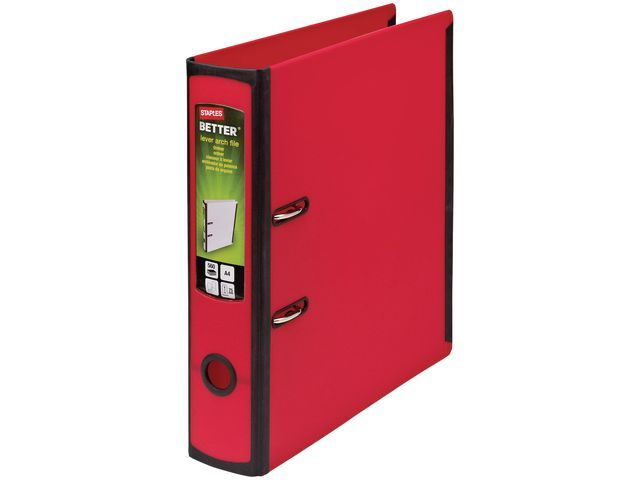Staples Ordner Better Binder A4-maxi 75mm rood