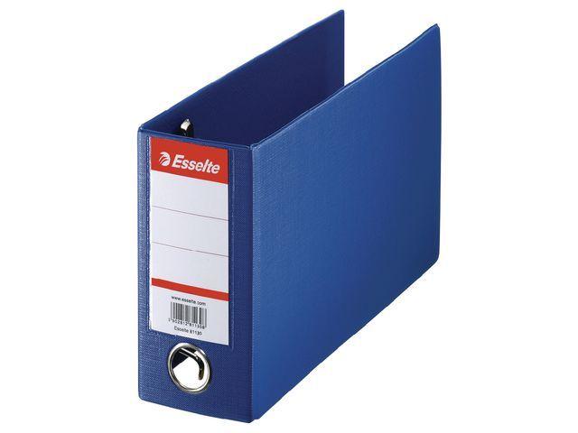 Esselte Ordner bank/giro 80mm 16x28cm kart.blauw