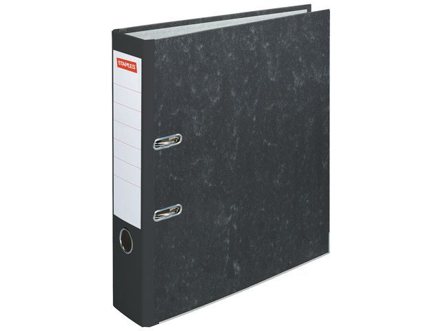 Staples Ordner SPLS 80mm A4 gewolkt karton zwart