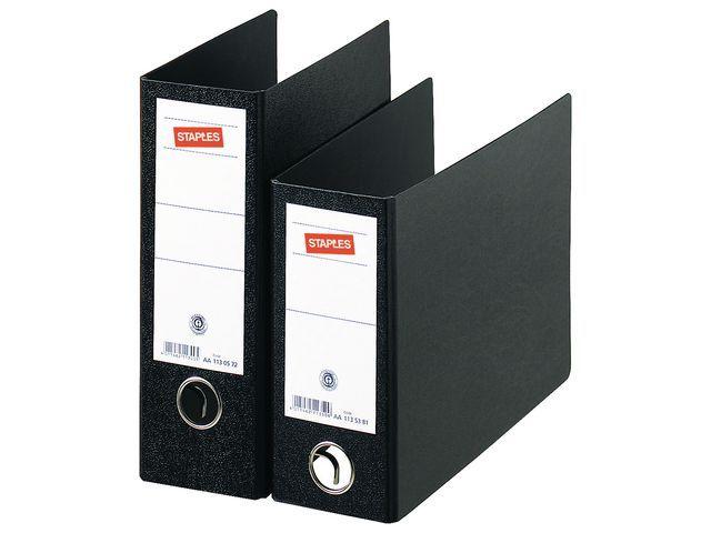 Staples Ordner SPLS 80mm A5 staand karton zwart