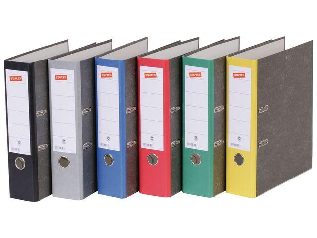 Staples Ordner SPLS 80mm A4 gewolkt karton geel