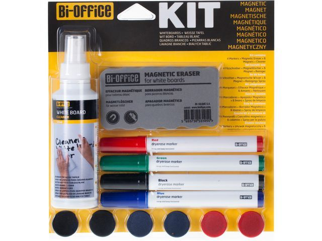 Bi-Office Starterkitset whiteboard Bi-Office magn.