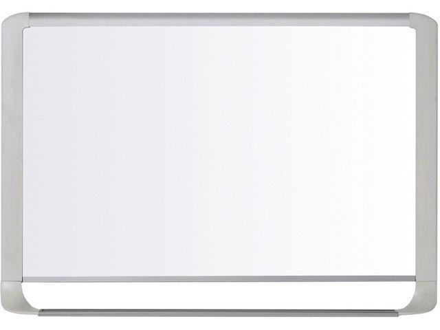 Bi-Office Whiteboard staal 90x60 rand grijs