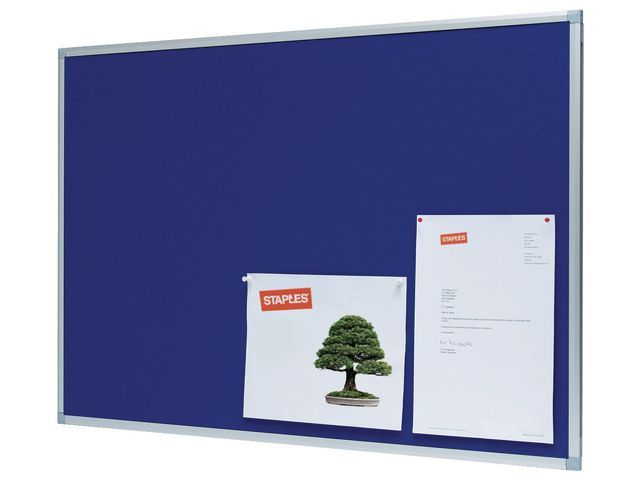 Staples Prikbord SPLS 120x90 vilt blauw
