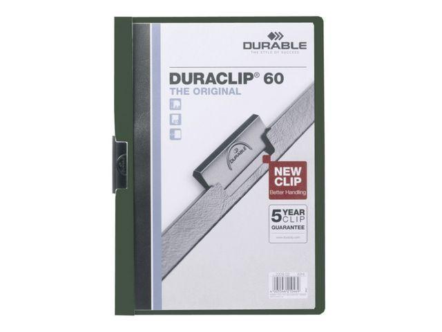 Durable Klemmap Duraclip A4 3mm groen/doos 25
