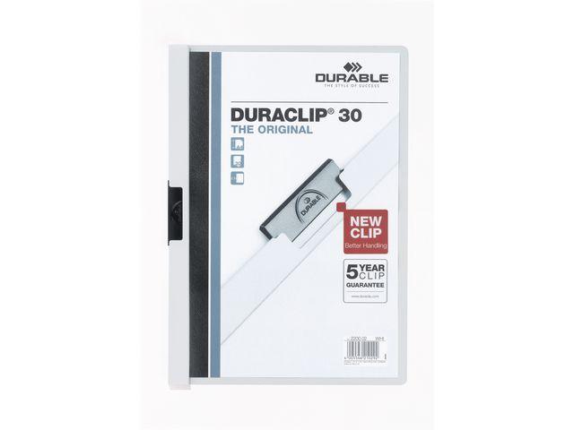 Durable Klemmap Duraclip A4 3mm wit/doos 25