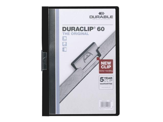 Durable Klemmap Duraclip A4 3mm zwart/doos 25
