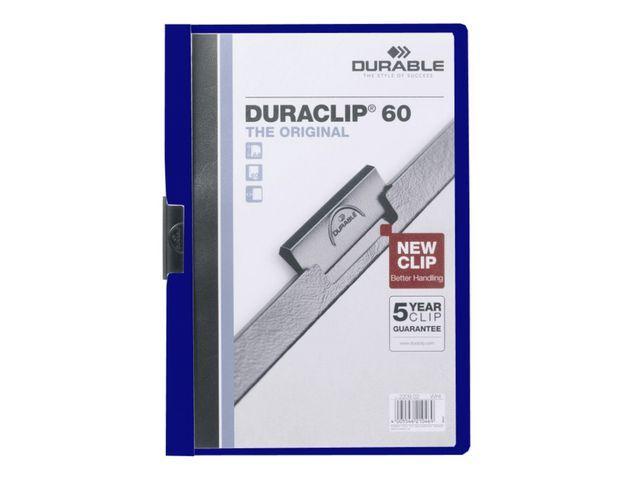 Durable Klemmap Duraclip A4 6mm d'blauw/doos 25