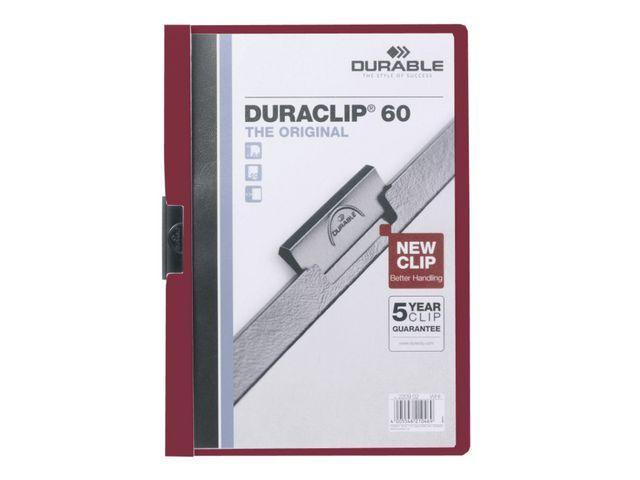 Durable Klemmap Duraclip A4 6mm rood/ds 25