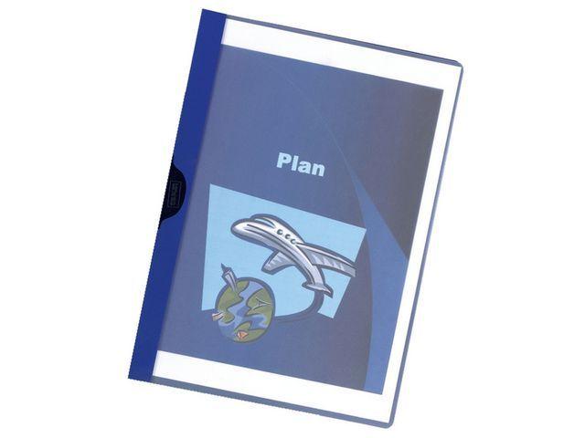 Staples Klemmap SPLS A4 3mm blauw/pak 5