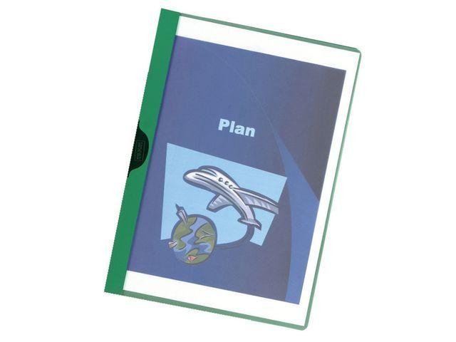 Staples Klemmap SPLS A4 3mm groen/pak 5