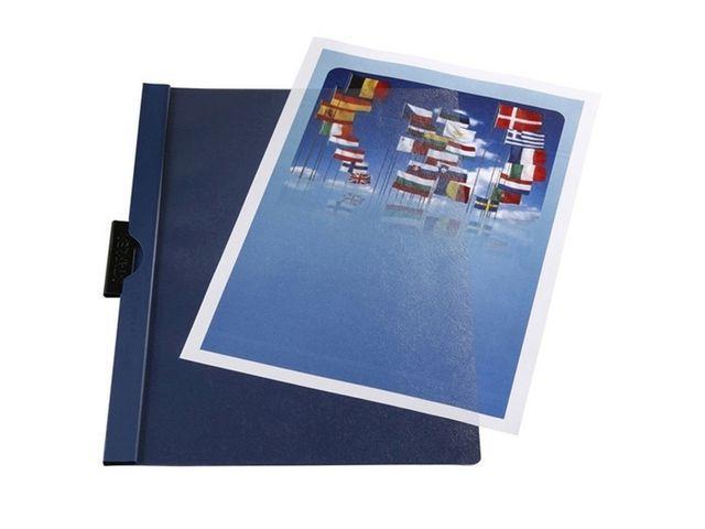 Staples Klemmap SPLS A4 6mm blauw/pak 5