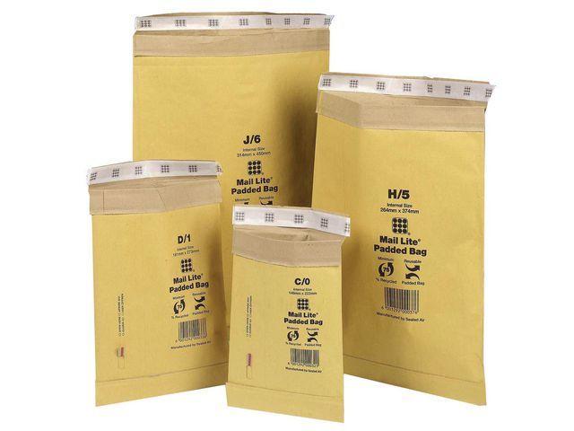Mail Lite® Padkraftenvelop MailLite H/5 goud/50