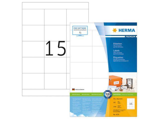 Herma Etiket ILC 70x51 prem wit/pak 1500