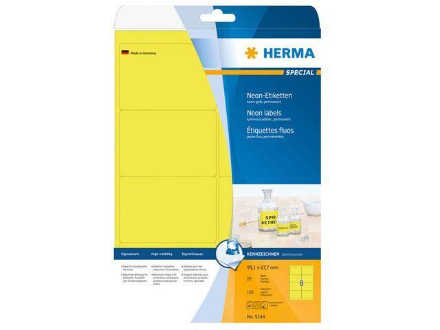 Herma Etiket ILC 99x68 neon-geel/doos 160