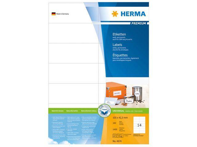 Herma Etiket ILC 105x42 prem wit/pk 1400