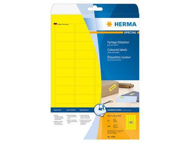 Herma Etiket ILC 46x21 geel/pak 960
